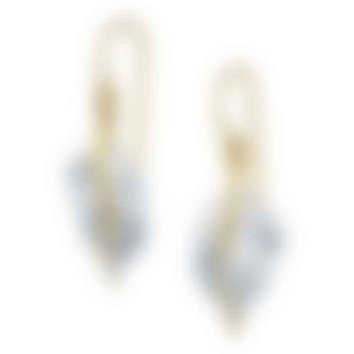 Christin Ranger Sterling Silver and Gold Plated Leaf Hook Earrings