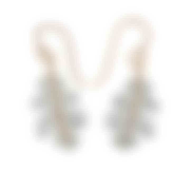 Christin Ranger Sterling Silver and Gold Plated Oak Leaf Hook Earrings
