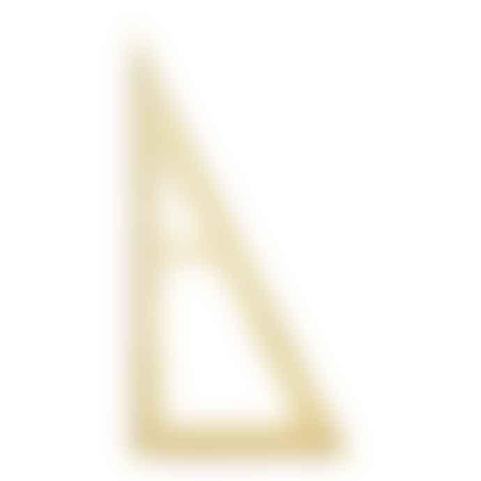Monograph 19.5cm Golden Brass Triangular Ruler
