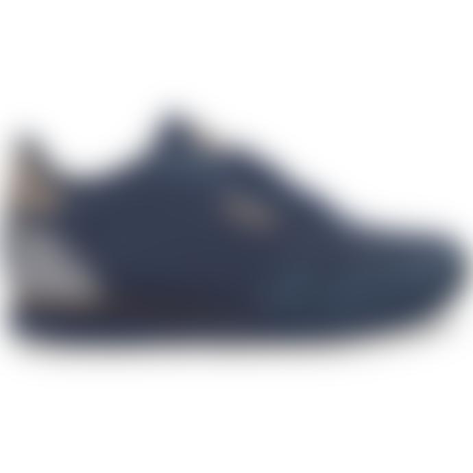 Woden Navy Leather Norah II Sneaker