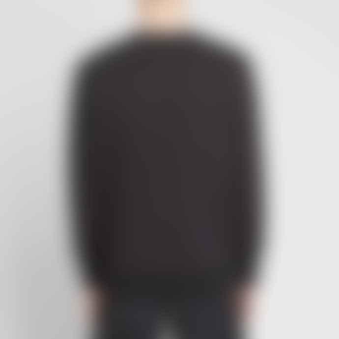 C.P. Company Black Cotton 07CMSS001A005086W/999 Embroidered Logo Sweatshirt