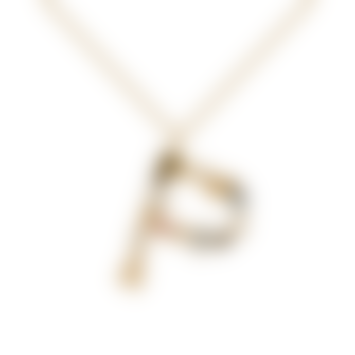 P D PAOLA Sparkling Initial Necklace Gold Letter P