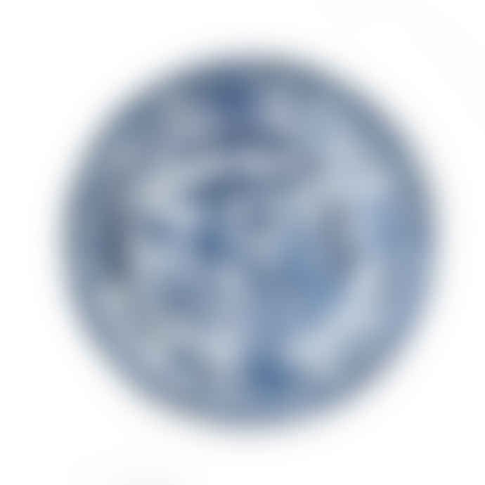 HK Living Blue and White Porcelain Hand Painted Kyoto Plate