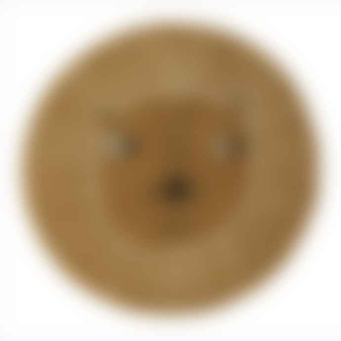 OYOY One Size Caramel Wool and Cotton Lion Rug