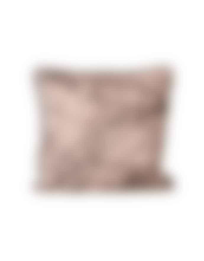 Ferm Living Pink Silk Marble Cushion