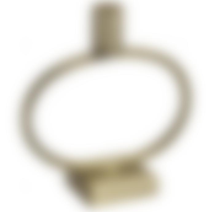 Nordal Brass Plated Iron Circle Candlestick
