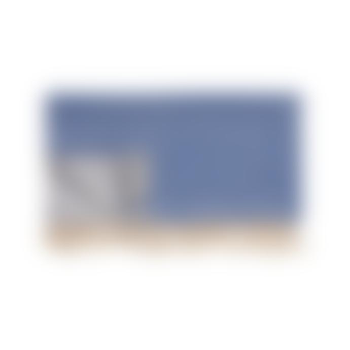 Hubsch A/S 140 x 200cm Blue off White Cotton Plaid Throw