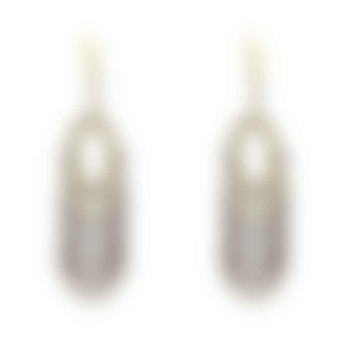 Boho Betty Grey Drop Crystal Earrings