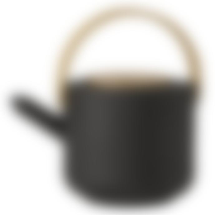 Stelton 1.25L Black Pottery Theo Teapot