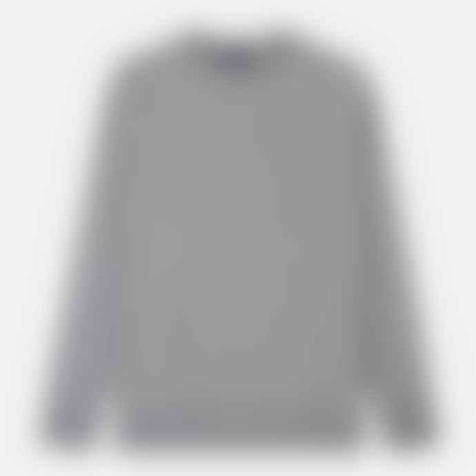 Aquascutum  Grey Melange Oliver Crew Neck Sweater