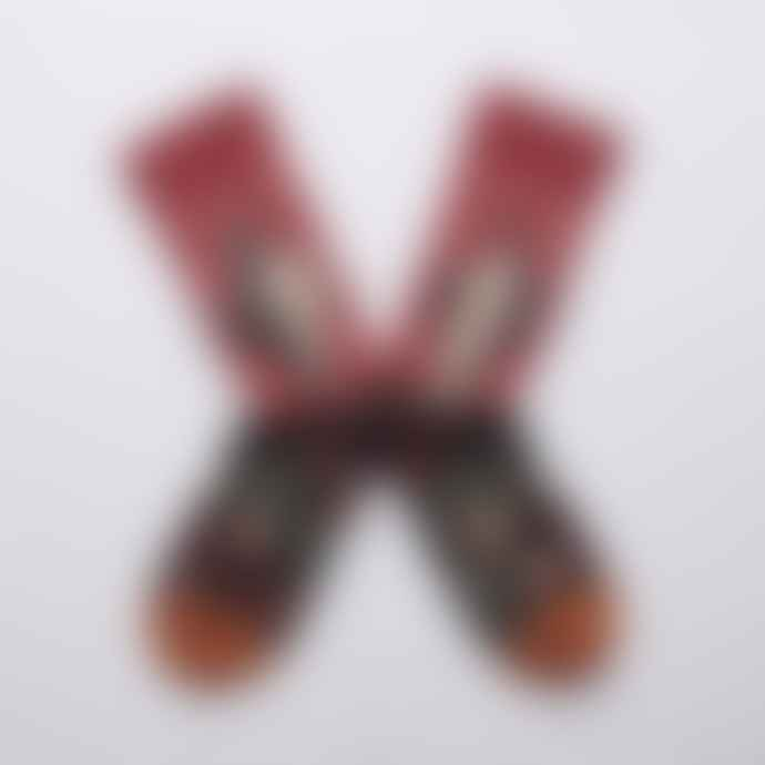 Bonne Maison Crimson Nude Socks