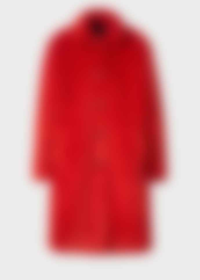 Paul Smith red teddy bear coat
