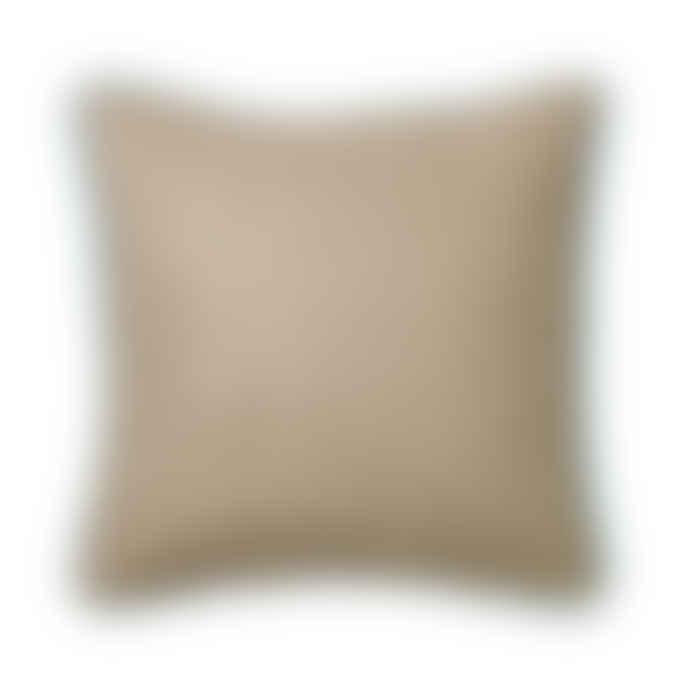 Broste Copenhagen Elga Brown Herringbone Cushion