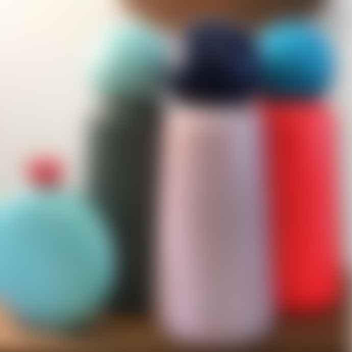 Lund London Skittle Round Hip Flask - Mint & Coral