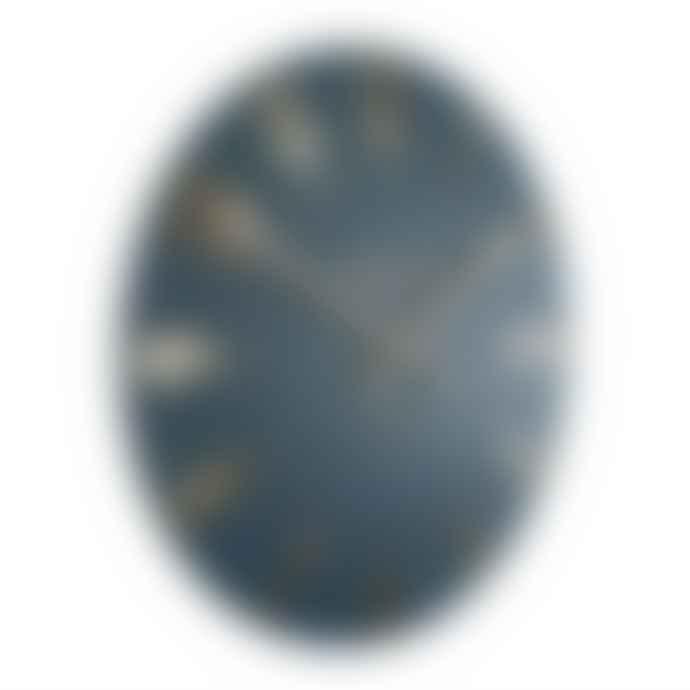 "Thomas Kent 12"" Midnight Blue Mulberry Wall Clock"