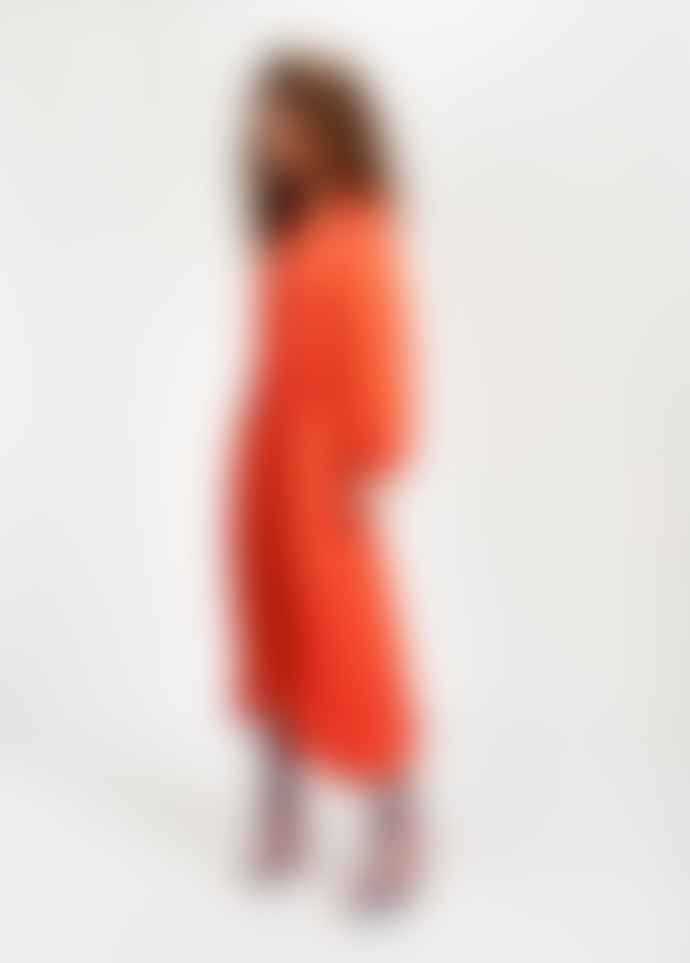 Essentiel Antwerp Teveland orange midi dress