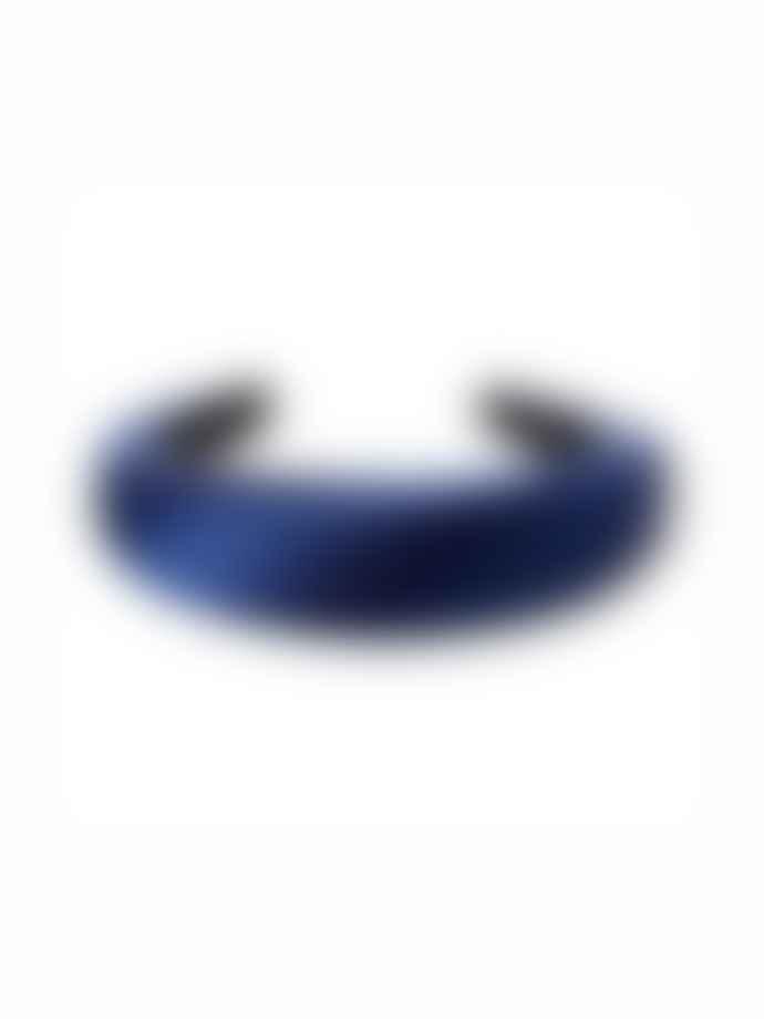Sui Ava Satin Headband Dark Blue