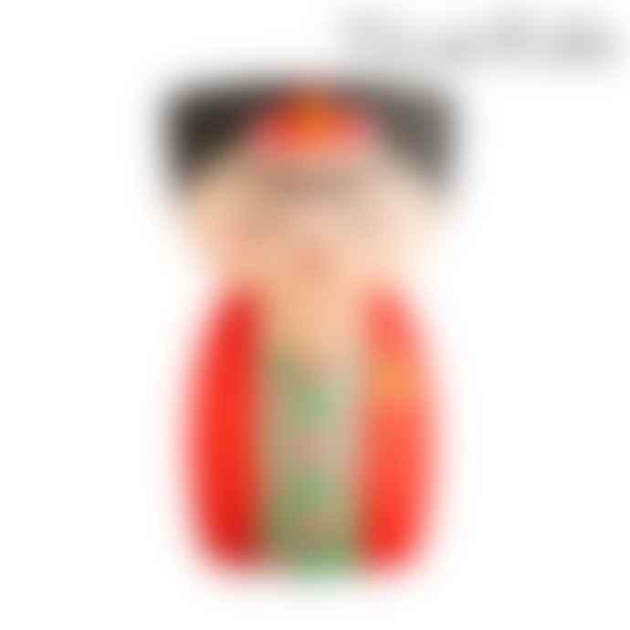 Sass & Belle  Vase Shaped As Frida Kahlo In Red