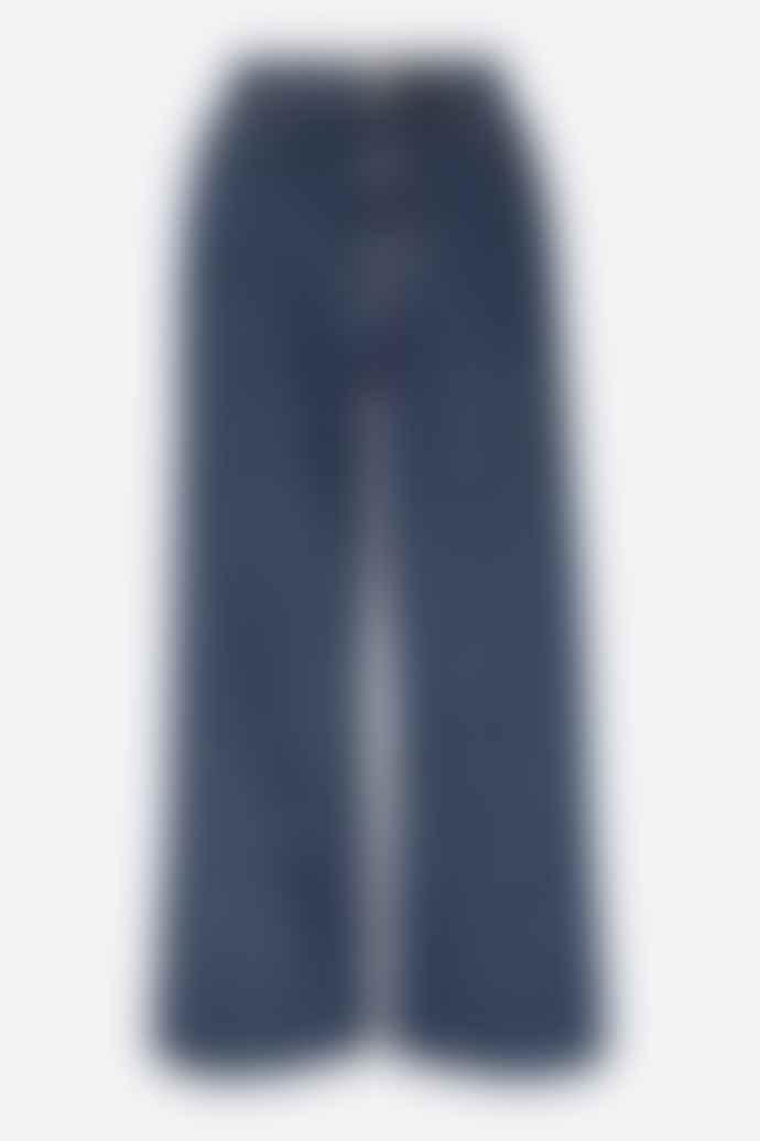People Tree Ariel Wide Leg Blue Jeans