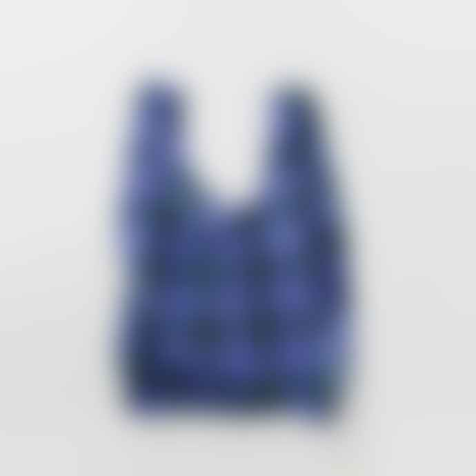 Baggu Blue Tartan Standard Reusable Bag