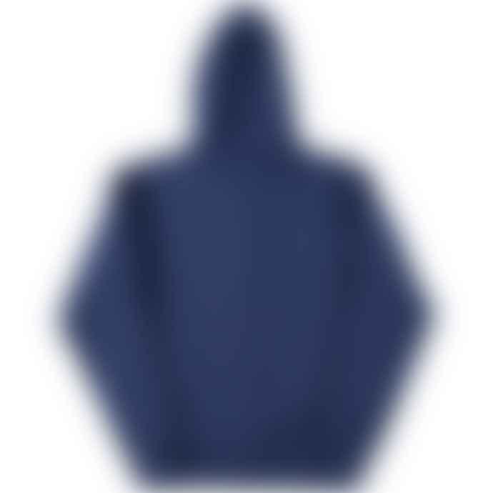 Russell Authentic Melange Zipped Hooded Sweatshirt Ocean Blue