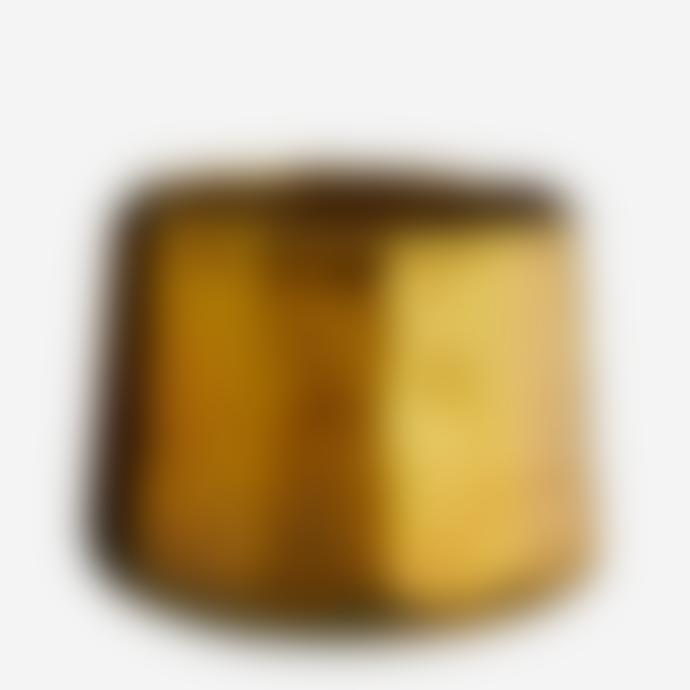 Madam Stoltz Gold Oxidised Glass Tea Light