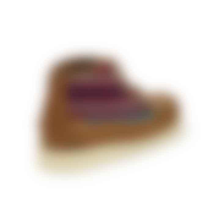 Sebago x Pendleton Seneca Mid Tumb Wool Boots Tan Aqua