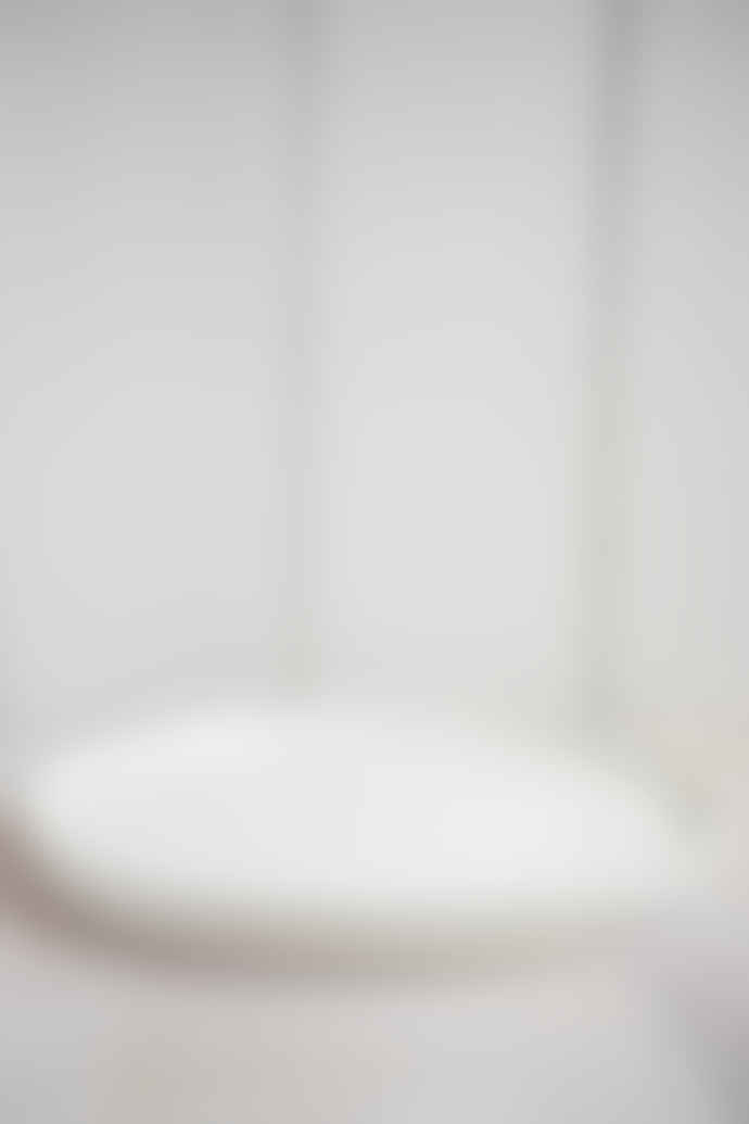 Also Home Cream Ceramic Serving Platter