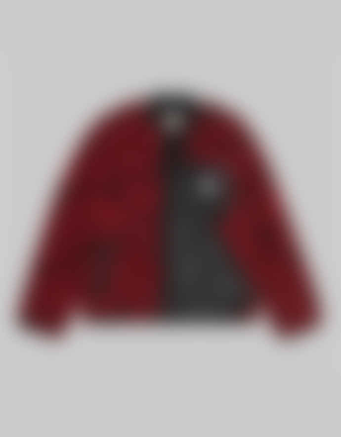 Carhartt Blast Red Polyester Panther Print Janet Liner Jacket