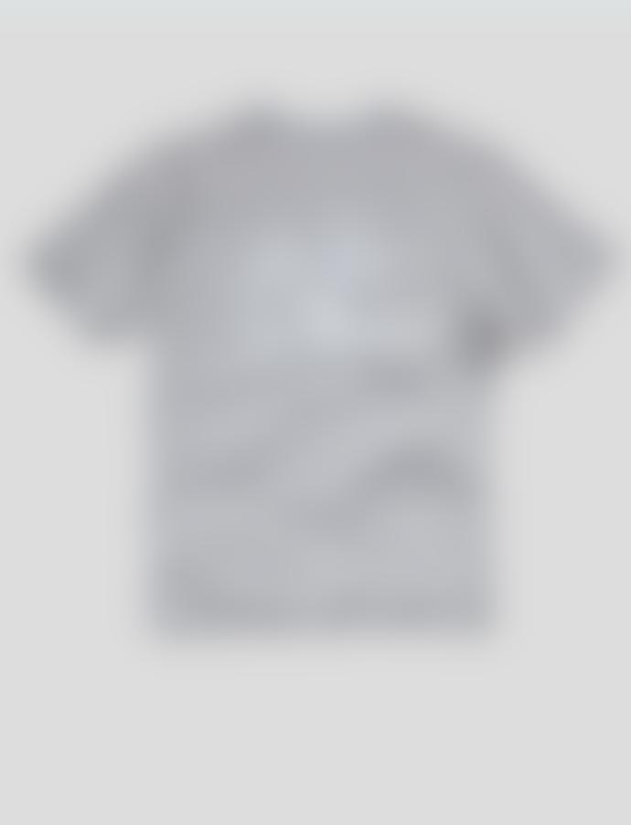 Nigel Cabourn Globe Back Print T Shirt Grey Marl