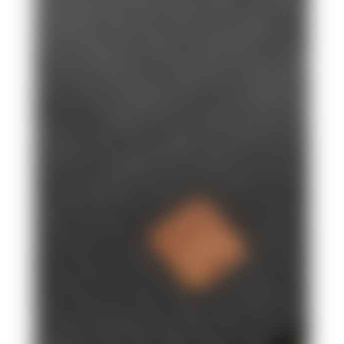 Knowledge Cotton Apparel  82214 Leaf Ribbing Hat Dark Grey Melange