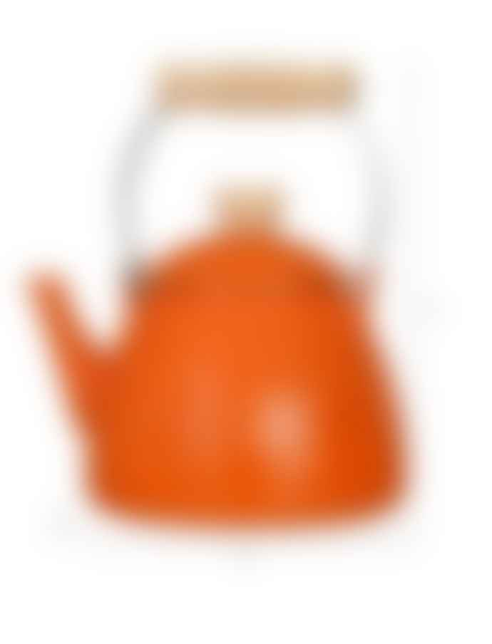 Garden Trading Orange Enamel Stove Kettle