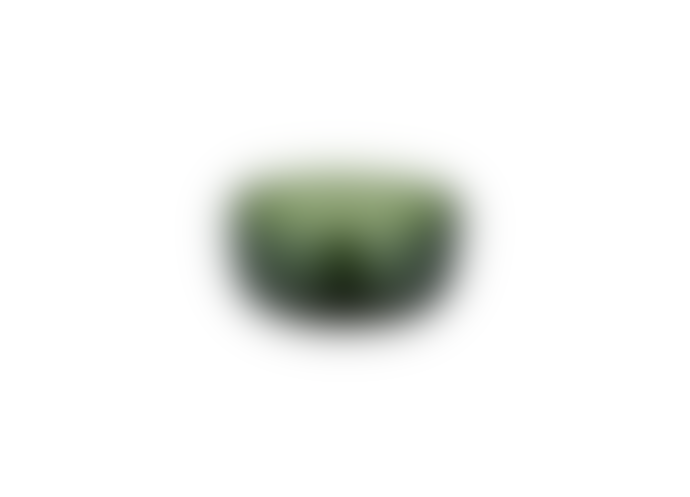 Nkuku Emerald Green Glass Nibble Bowl