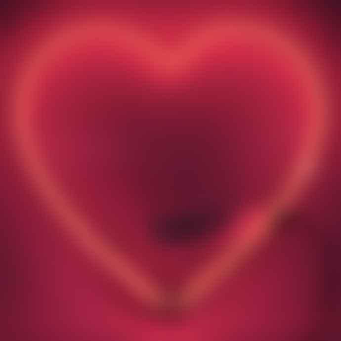 Locomocean Neon Heart Wall Light