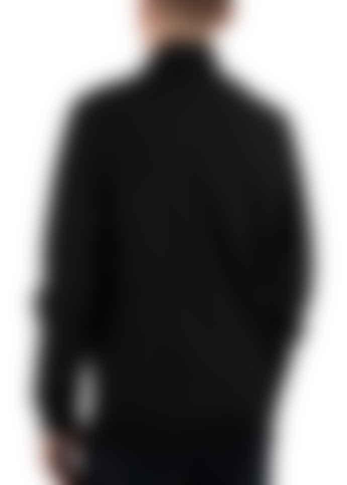 Lyle and Scott True Black Polyester Funnel Neck Zip Through Softshell Jacket
