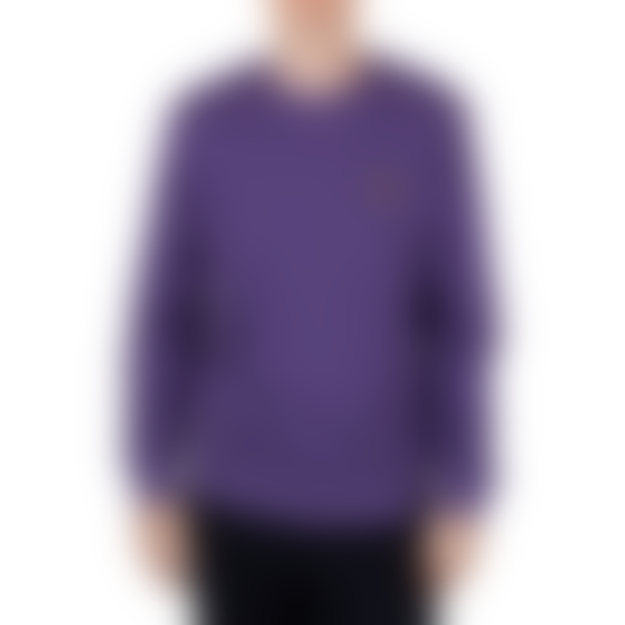 Lyle and Scott Violet Cotton Crew Neck Sweatshirt