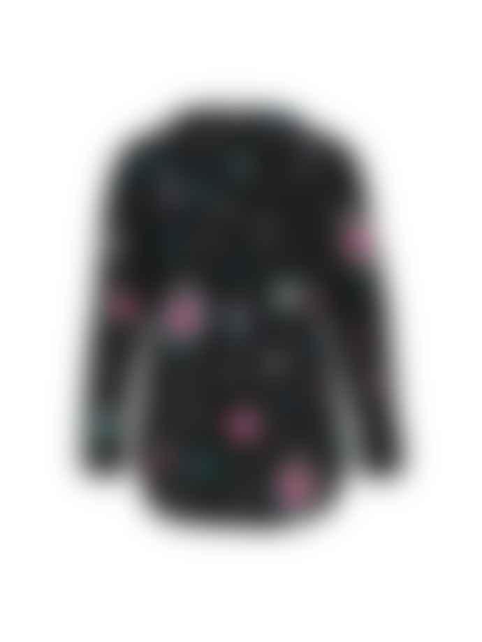 Stardust Betty Heart Blouse Black Multi
