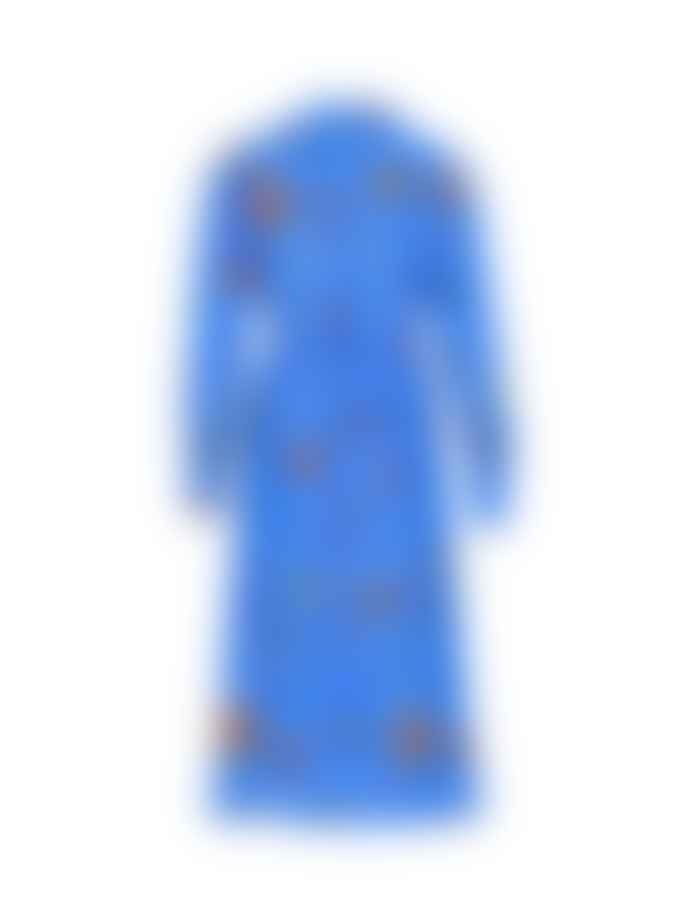 Stardust Scallop Heart Midi Dress Cornflower Blue