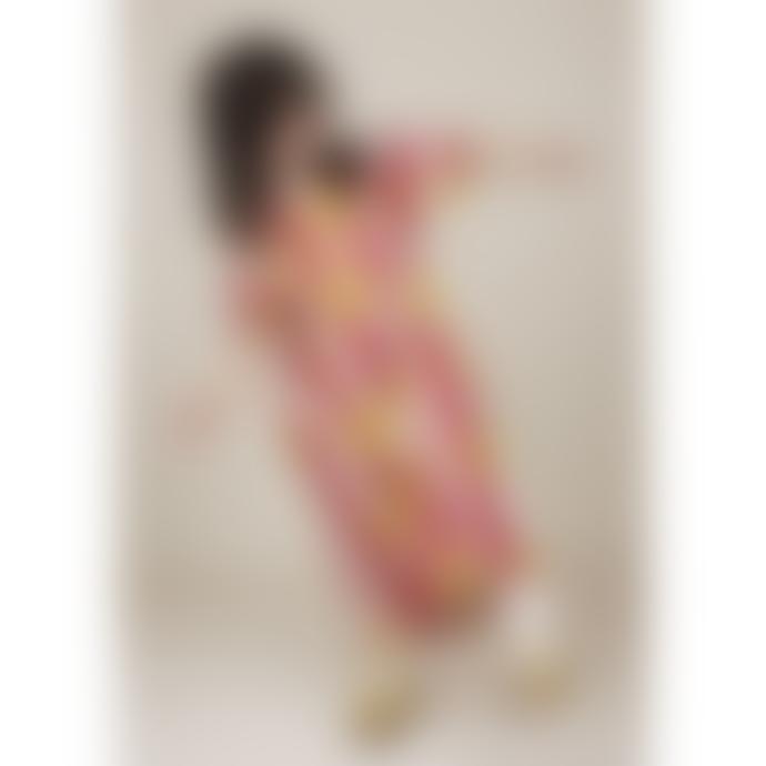 Mini Rodini Red Sun Striped T-Shirt Dress
