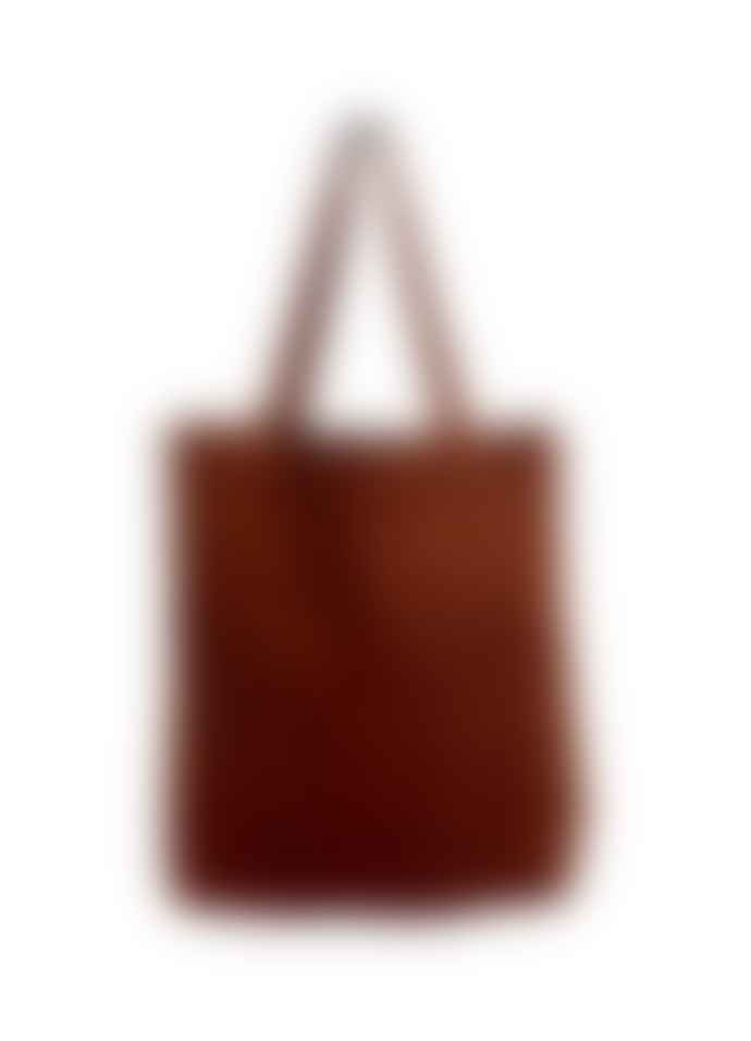 Black Colour Mocha Brown Corduroy Jenny Shopper