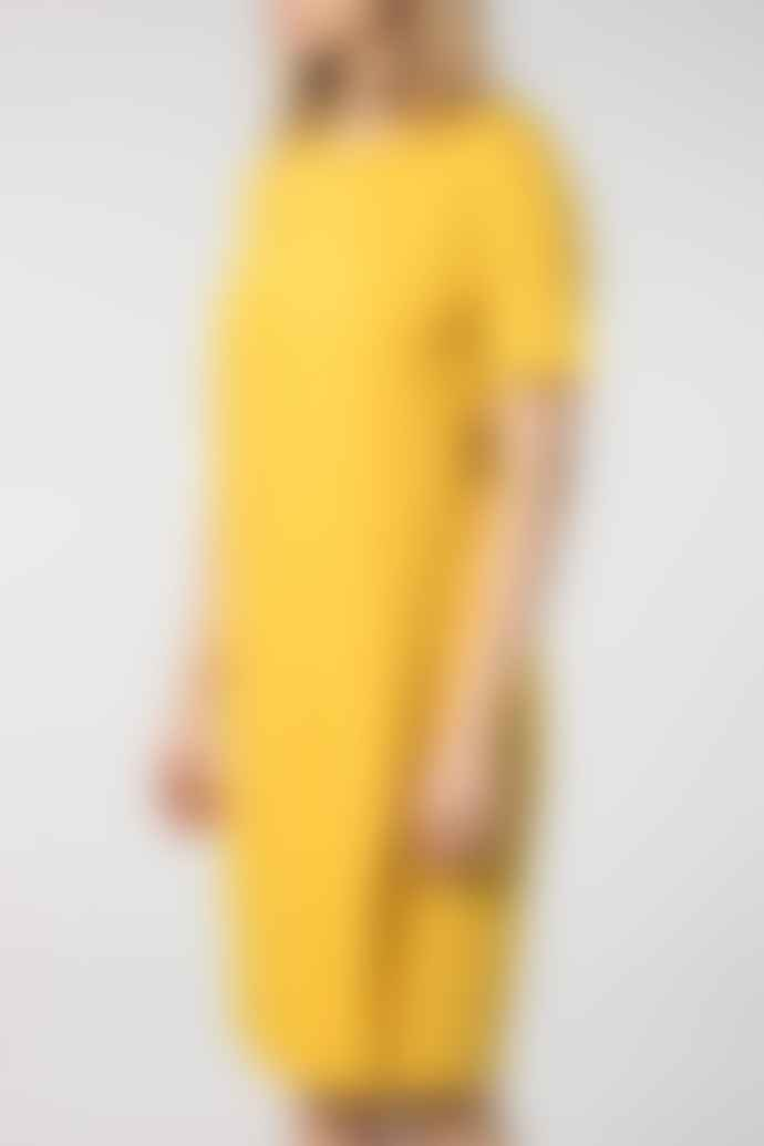 Anecdote Dace Lyocell T Shirt Dress Yellow