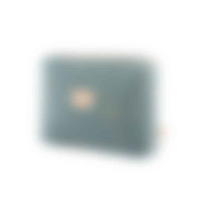 Nobodinoz 18 x 25cm Gold Confetti and Magic Green Cotton Travel Toiletry Bag