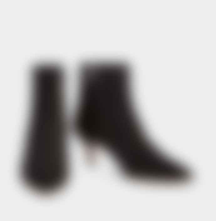 Ivylee Copenhagen Black Suede Leather Bambi Stiletto Boot