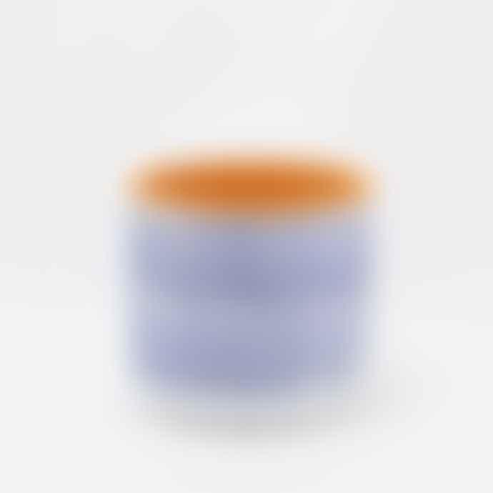 casa atlantica Blue Horizontal Stripes Terracotta Pot S with plate