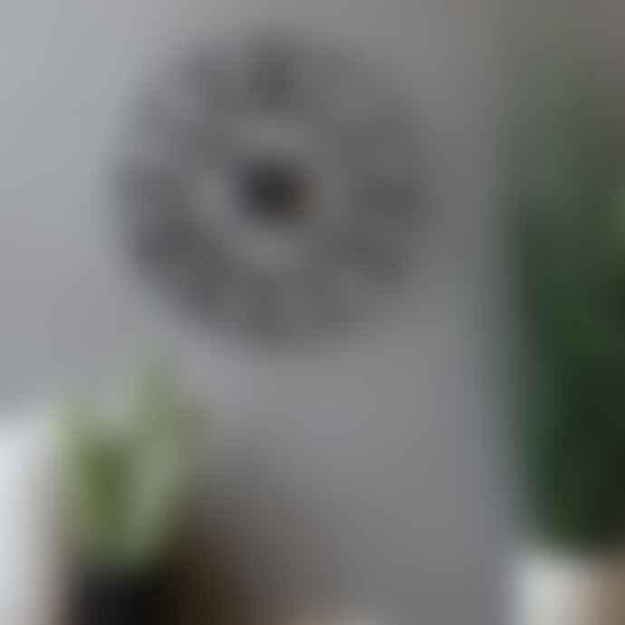 livs 40cm Black Iron Numeral Clock
