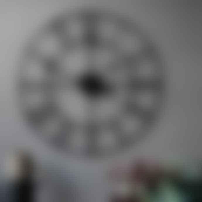 livs 60cm Black Iron Numeral Clock