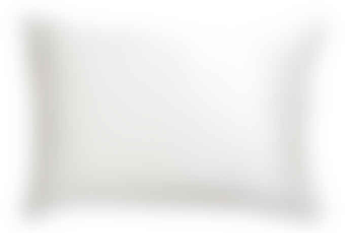 Wallace Cotton Silk Standard Pillowcase White