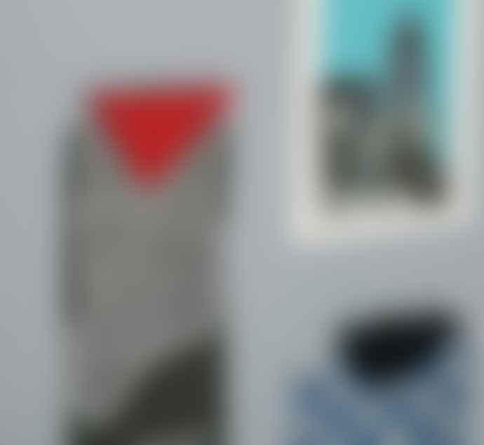 Block Design Geometric Photo Clip Red Circle