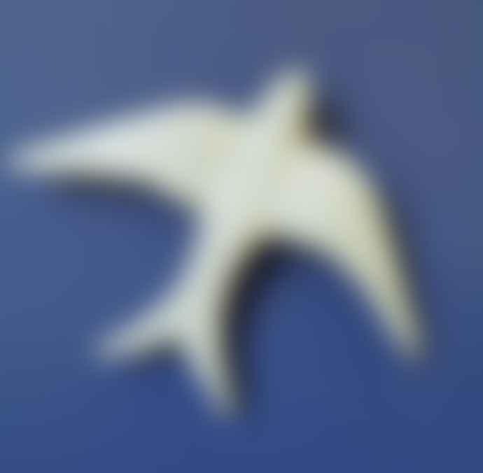casa atlantica Large White Glazed Ceramic Swallow