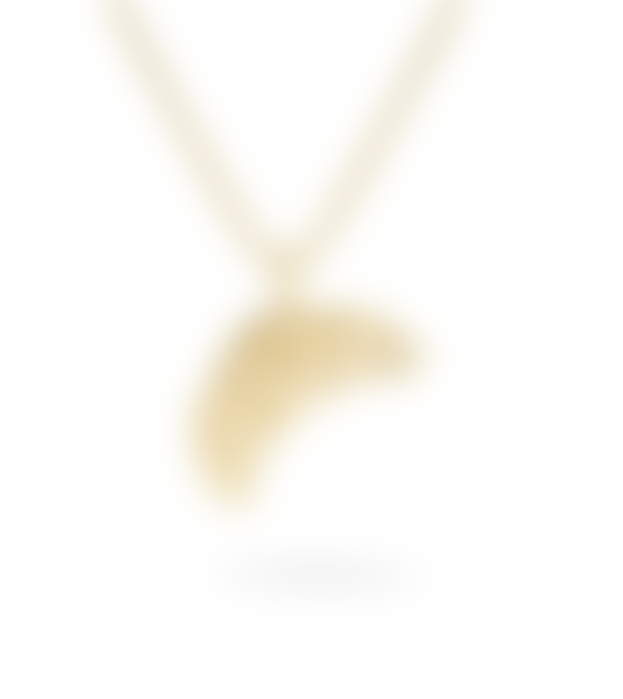Jukserei Croissant Necklace Gold